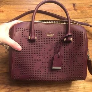Purple Kate Spade crossbosy